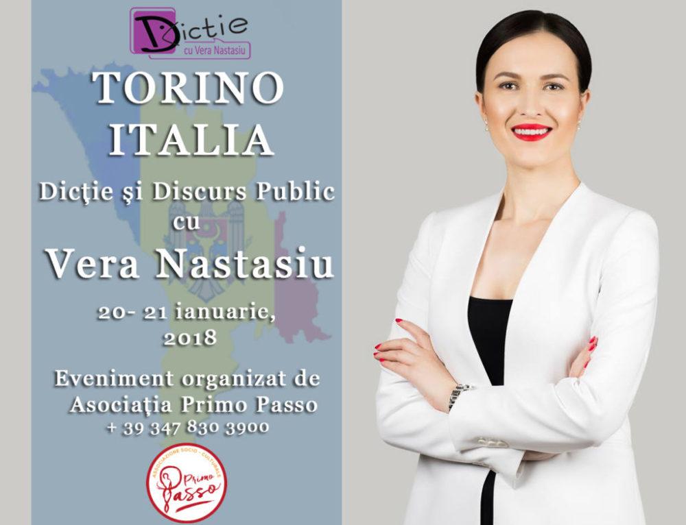 Dicție și Discurs Public cu Vera Nastasiu la TORINO!