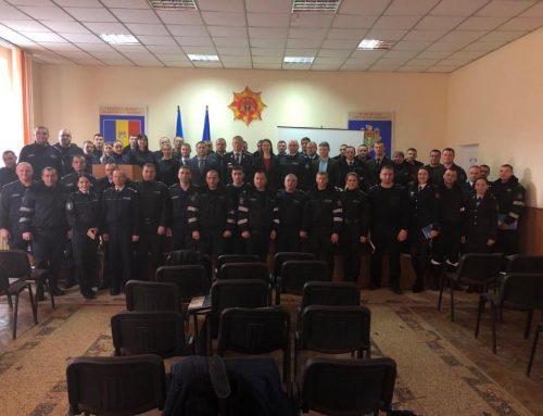 Instruiri pentru 50 de politiști din Nisporeni