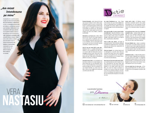 Vera Nastasiu: Am mizat întotdeauna pe mine