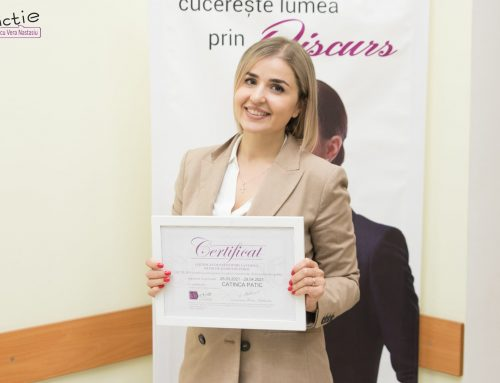 CATINCA PATIC, specialist în psihosomatică: Acest curs m-a făcut să mă apreciez mai mult. Sunt mândră că am fost cursanta Verei Nastasiu