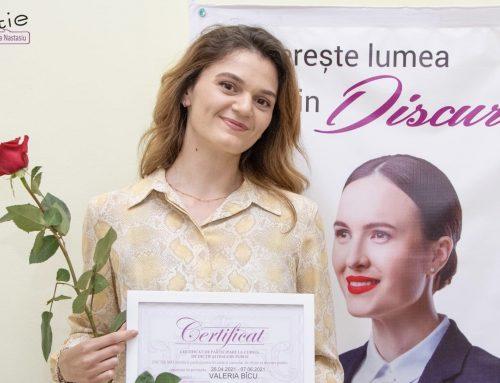 VALERIA BÎCU, studentă: Sesiunile de Discurs Public m-au ajutat să-mi înving emoțiile